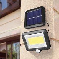 Cob 56/100led 태양 램프 모션 센서 야외 벽 램프 방수 ip65 야외 경로 밤 빛 dropshipping