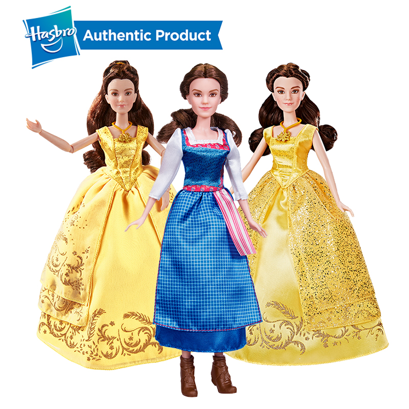 Hasbro  Princess Beauty And The Beast Enchanting Ball Gown Village Dress Belle Collection Figurine Toy Model Girls Gift