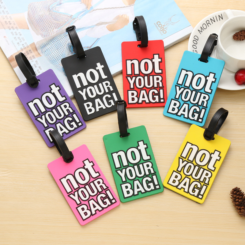 Fashion Letter Not YOUR BAG Name Tags Luggage Tags Suitcase Portable Label Cartoon Style Travel Accessories Baggage Boarding Tag