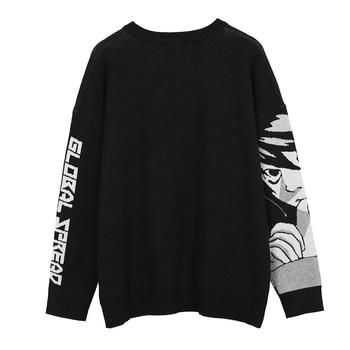 Knitted Harajuku Winter Clothes Women 2020 Oversized Sweaters Long Sleeve Top Gothic Fashion Japanese Kawaii Cartoon Streetwear 5
