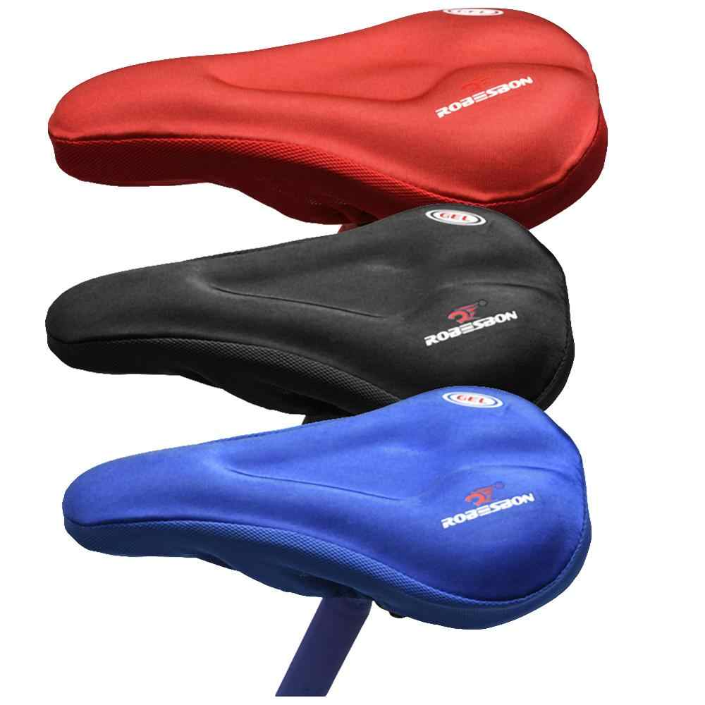 VOSAREA Gel Bike Seat Cover Bicycle Saddle Pad 3D Soft Cycling Seat Cushion Cover for Outdoor Biking