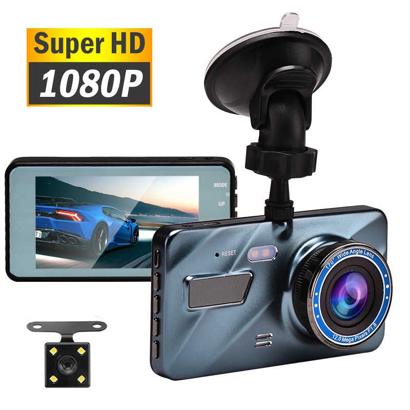 "J16 Auto Dvr Dash Camera Achteruitrijcamera Dual Camera Video 1080P Full Hd 3.6 ""Cyclus Opname Nachtzicht G-Sensor Groothoek Dashcam"