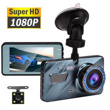 "Voiture DVR Dash Cam enregistreur vidéo 3 en 1 vue arrière double caméra Full HD voiture caméra 3.6 ""Cycle enregistrement Vision nocturne g-sensor Dashcam(China)"