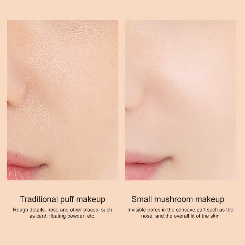 Cabeça de cogumelo almofada de ar cc creme hidratante fundação ar-permeável natural clareamento maquiagem bb creme cosméticos tslm1