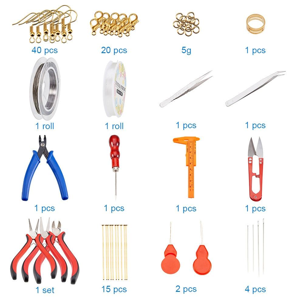 ICNWAY Jewellery Making Tool Set Earring Earring Diy Material Bag Handmade Pliers Jewelry Accessories