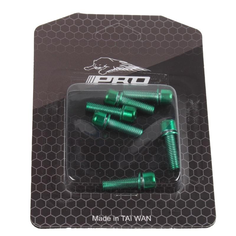 M5* 18 мм Ti с титановым покрытием винты велосипедные болты с шайбой для MTB руля руль гарнитура 6 шт