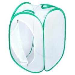 Składany motyl siedlisko klatka netto Terrarium Pop Up otwarty 23.6 cala wysoki zielono biały w Zewnętrzne narzędzia od Sport i rozrywka na