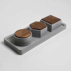 Image 2 - Molde redondo quadrado da caixa do hexágono moldes concretos do silicone da caixa de armazenamento do cimento com molde da tampa