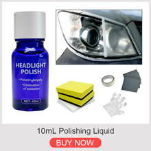 9H10ml Car Hardness Headlight Lens Restorer Repair Liquid Polish Auto Cleaner Set Car Cleaning Supplies