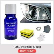 9h10ml dureza do carro farol lente restorer reparação líquido polonês conjunto de limpeza automóvel carro suprimentos