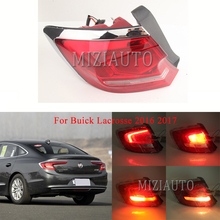 MIZIAUTO Rear tail light Outer side For Buick Lacrosse 2016 2017 Brake Light Bumper Tail Stop Lamp Warning