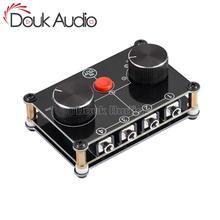 Douk audio 리틀 베어 미니 4 포트 스테레오 수동 셀렉터 오디오 공유 3.5mm aux 스피커 헤드폰 스위처