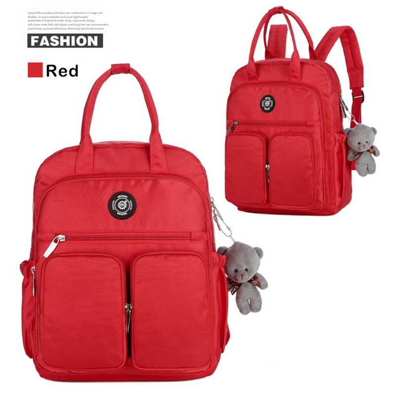 Hd78a79d1e91a4d55affac3a08009f1dez - New Waterproof Nylon Backpack for Women Multi Pocket Travel Backpacks Female School Bag for Teenage Girls Dropshipping