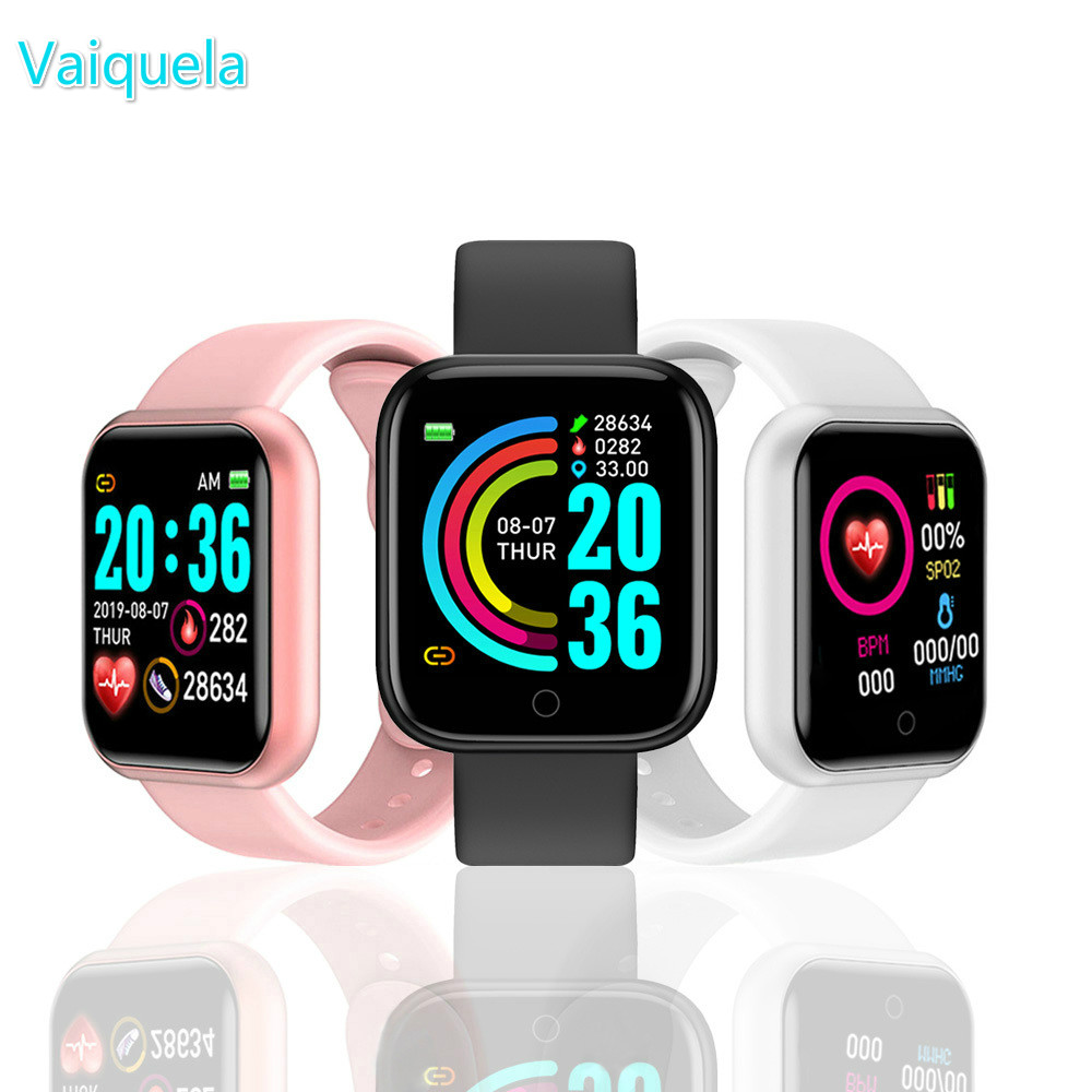 Digital Watch Y68 Smart Watch Fitness Bracelet Activity Tracker Heart Rate Monitor Blood Bluetooth Watch for ios Android Hours