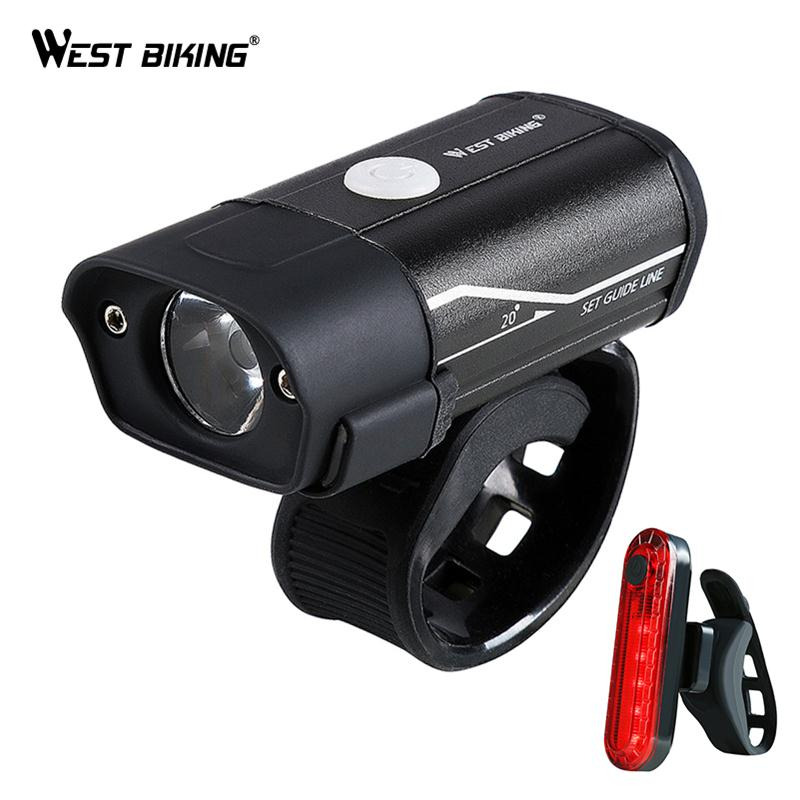 WEST BIKING <font><b>Bicycle</b></font> <font><b>Light</b></font> <font><b>T6</b></font> L2 <font><b>LED</b></font> Bike Headlight Taillight Kit USB Rechargeable Battery Flashlight Cycling Torch <font><b>Bicycle</b></font> Lamp image