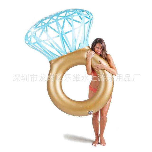 Fabricants actuellement disponibles en gros au détail nouveau Style gonflable diamant anneau de natation Tube de natation eau flottante Be