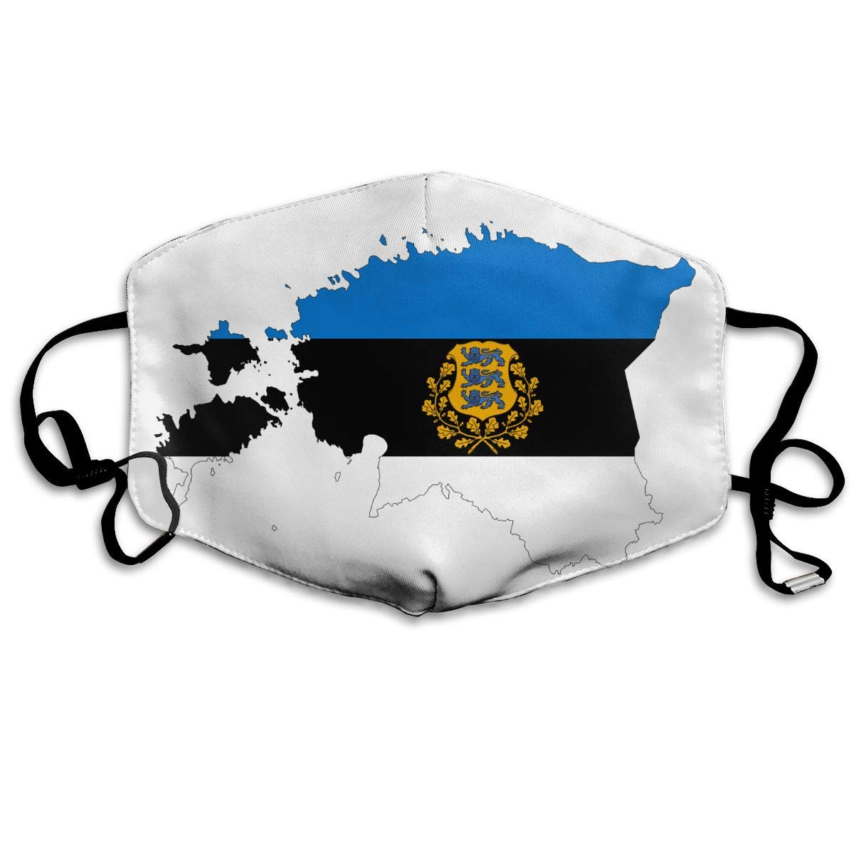 Estonia Map Flag Washable Reusable   Mask, Cotton Anti Dust Half Face Mouth Mask For Kids Teens Men Women With Adjustable Ear