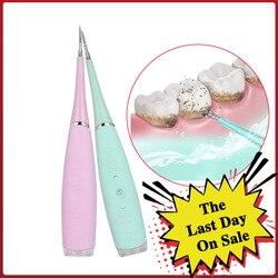 Scaler dental elétrica sonic silicone dente mais limpo recarregável usb dente removedor de cálculos manchas tártaro remover