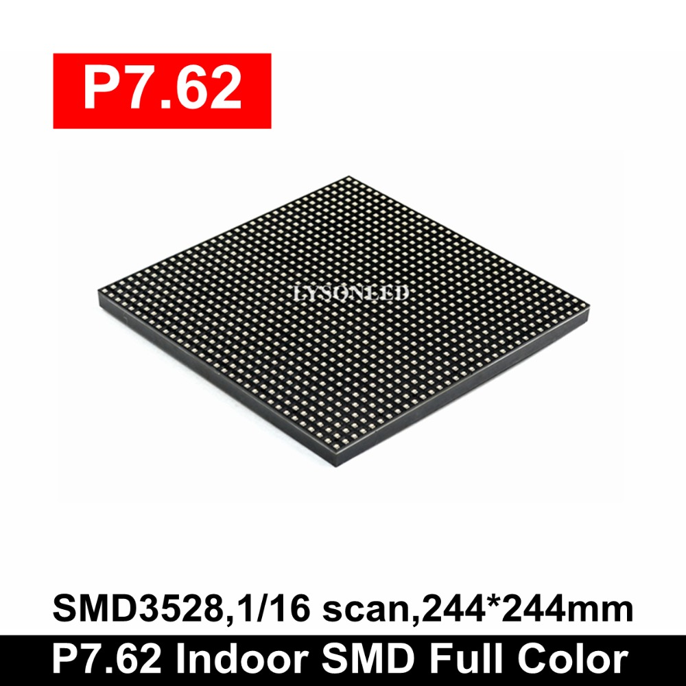 LYSONLED P7.62 Indoor SMD 244x244mm Full-Color LED Display Module,Ph7.62mm Interior LED Video Wall Panel 32x32 Pixels