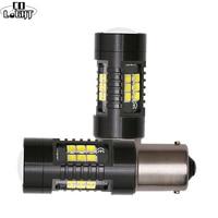 CO lumière 2 pièces P21W 1156 BA15S Canbus voiture LED ampoule 3030SMD LED Auto inverse DRL voiture lumière 12V 24V Automobiles lampe pour universel