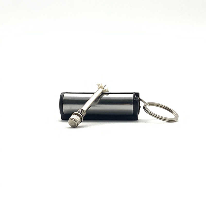キーチェーンストライカーライター永久円筒試合ステンレス鋼キーリング自動車インテリアアクセサリー
