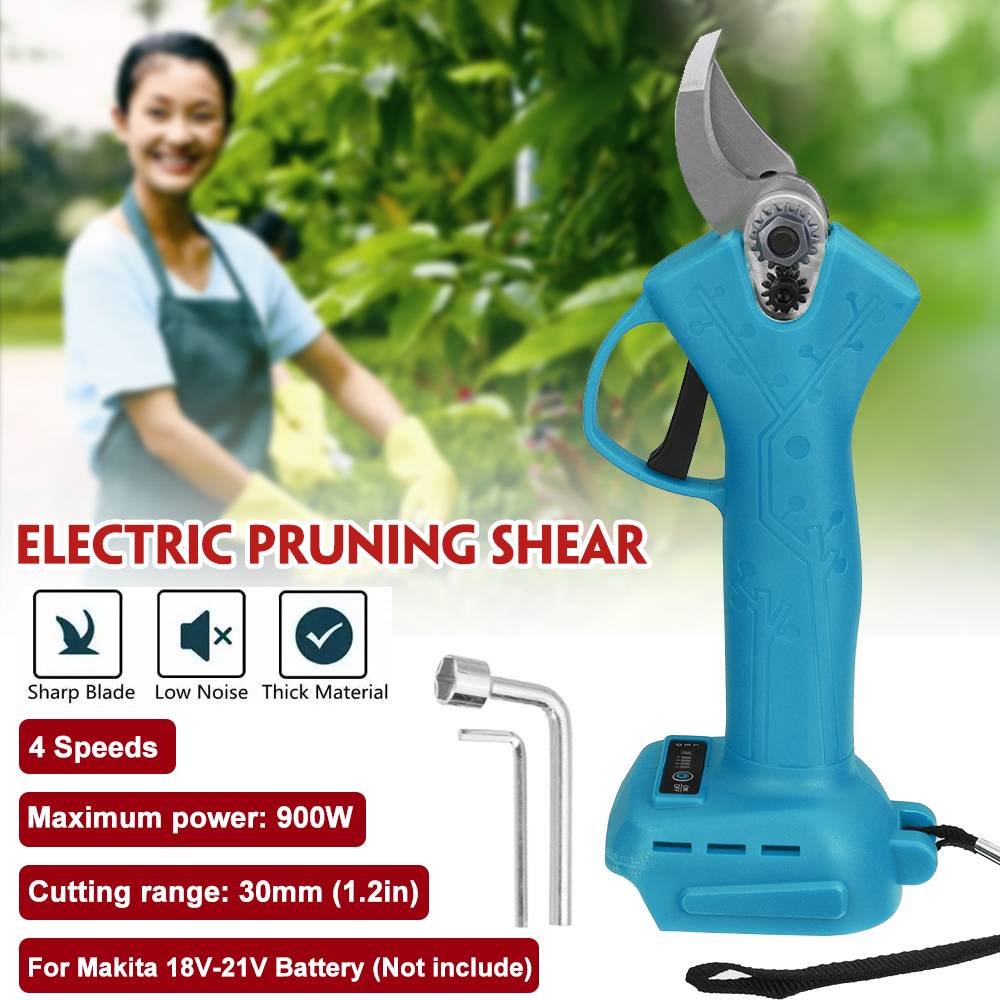 18V Cordless Electric Pruning Shears Pruner 900W 30mm Fruit Tree Pruning Branches Cutter Garden Tools for Makita 18V battery
