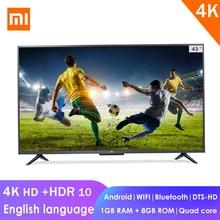 Xiaomi Mi 4K Full HD inteligentny LCD telewizor z dostępem do kanałów 4S 43-cala 64-bit czterordzeniowy 1GB + 8GB Dolby Audio z systemem Android WIFI bluetooth kabel sieciowy płaski telewizji