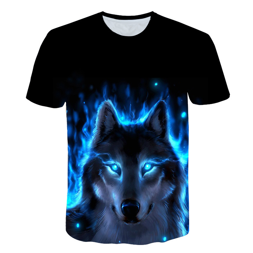 AMODECO Wolf 3D Printed Tee T-Shirt for Youth Teenager Boys Girls