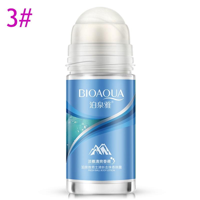 New Hot BIOAQUA Ball Body Lotion Antiperspirants Underarm Deodorant Roll On Bottle Women Fragrance Men Smooth Dry Perfumes SMR88