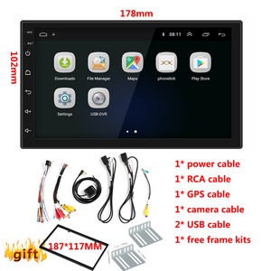 Image 5 - Android 8.1 Car Radio Stereo GPS Navigation Bluetooth wifi Universal 7 2din 2.5D IPS Car Radio Stereo Quad Core Multimedia