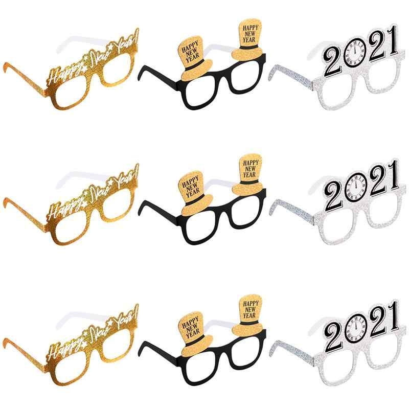 12PCS Happy New Year Party Favor Glasses Photobooth Props for 12