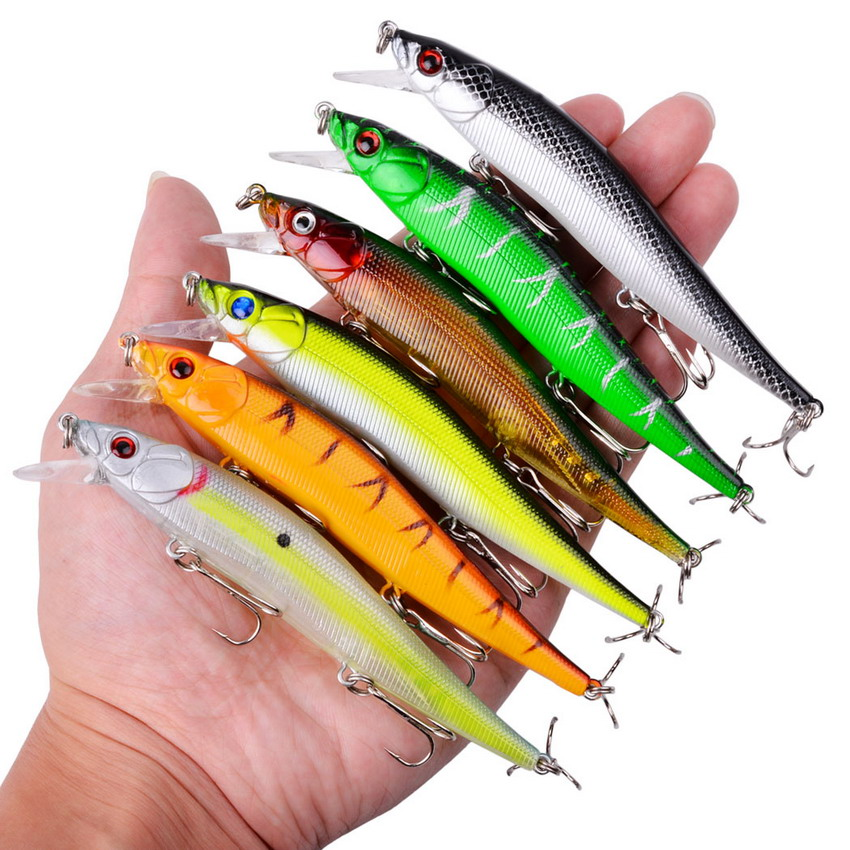 1Pcs Minnow Fishing Lures Hard Bait 11.5cm 15g Jig Wobblers Bass Pike Lure Plastic Artificial Baits for Fishing Tackle Crankbait