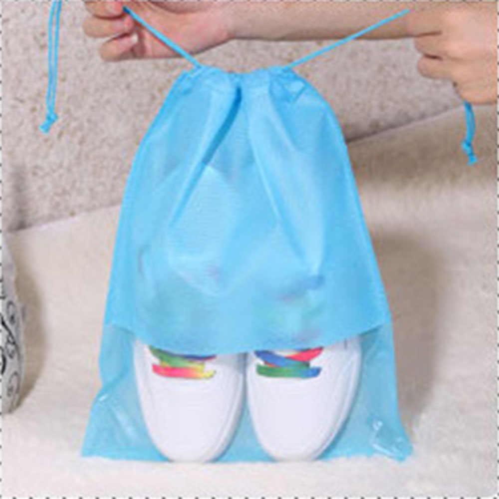Hot Sale 1Pc S/L Waterproof Shoes Storage Bag Pouch Portable Travel Organizer Drawstring Bag Cover Non-Woven Laundry Organizer