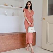 Женское платье с юбкой годе облегающее летнее большого размера