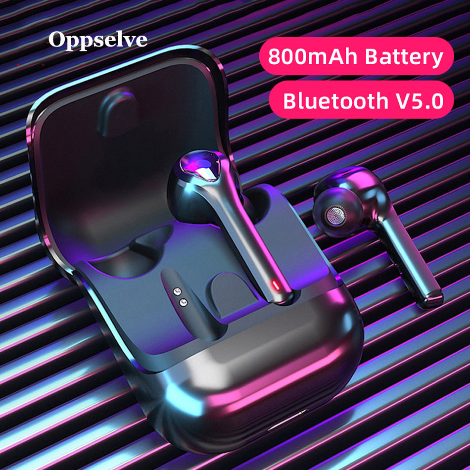 <font><b>TWS</b></font> Bluetooth 5.0 True Wireless Earphone Headphone Mini Cordless Earbuds With Mic Handsfree Headset For Xiaomi <font><b>Mi</b></font> iPhone Huawei image