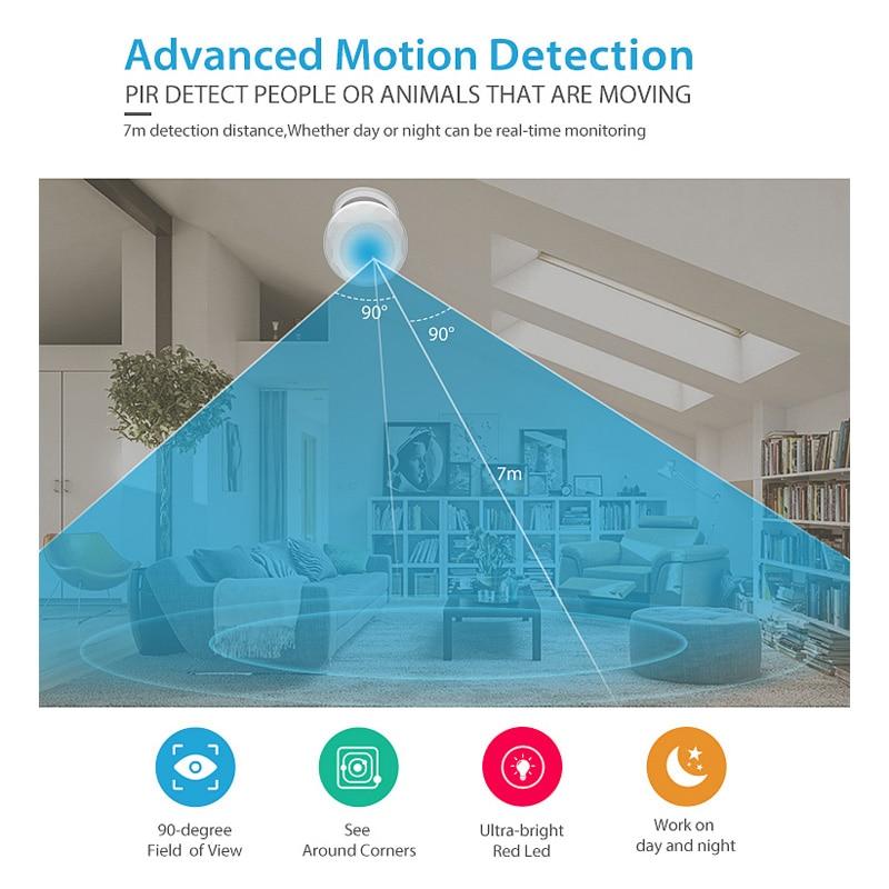 Tuya Smart Leben WiFi PIR Infrarot Motion Sensor Alarm Detektor Drahtlose Super Mini Form PIR Sensor Detektor Home Alarm System