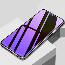 Purple Light Tempered Glass For Huawei Y6 Pro 2017 Y7 Prime Y9 P Smart 2018 Y7 Pro 2019 Honor 6C Screen Protector Glass Film 9d glass for huawei y7 y9 2018 protective glass for huawei y9 2019 y9 prime y7 prime 2019 jkm lx1 p smart z screen cover film