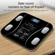 Body Fat Scale BMI Weight Scale Smart Connectable Bluetooth Electronic Scale LED Digital Bathroom Weight Scale Weight Scale Body