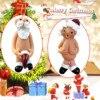 Christmas Pendant Naughty Santa Ornament  Stocking Cap Santa Ornament Christmas Decoration Christmas Tree Hanging Pendant 2021
