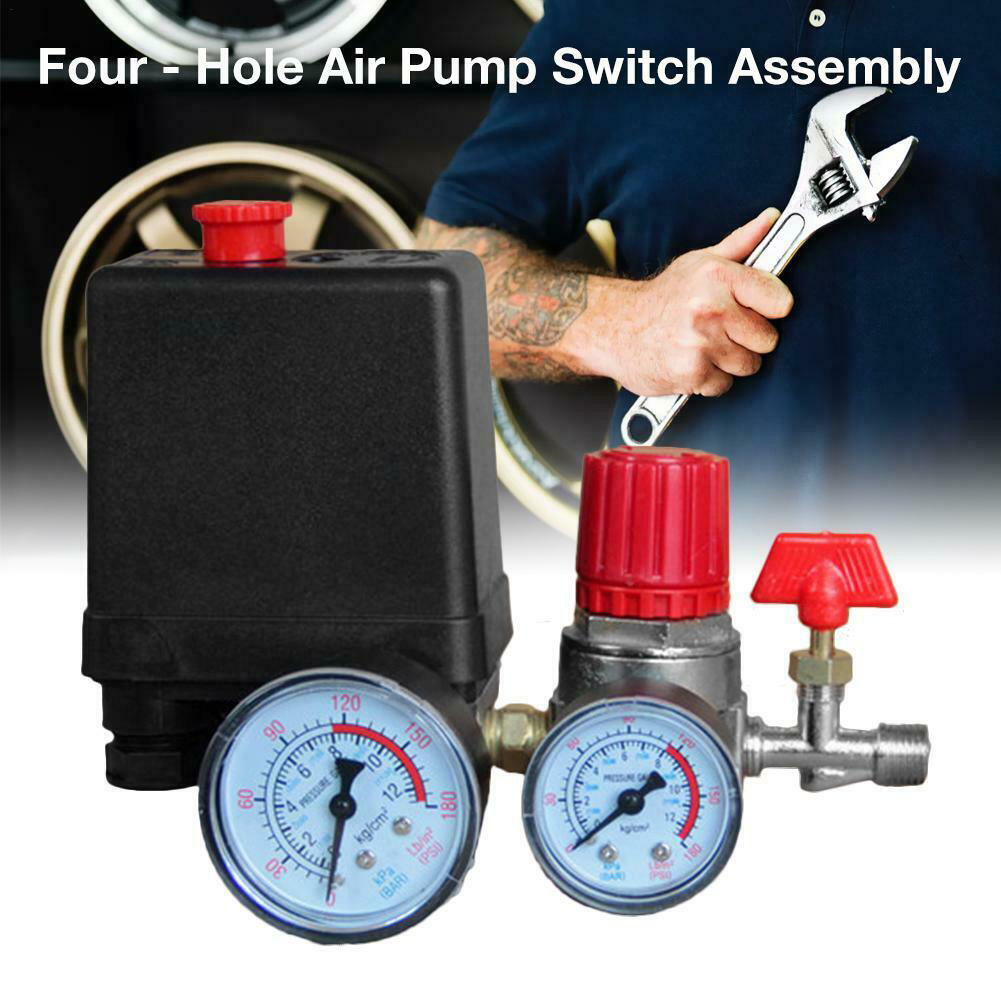 Image 4 - 90 120PSI Universal Motor Driven Practical Safety With Gauges Pressure Control Switch Air Compressor Pump Regulator Accessories-in Pneumatic Parts from Home Improvement