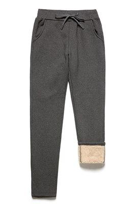 2018 Winter Plus Velvet Contrast Sports Pants Men's Lambs Wool Casual Pants Large Size Warm Harlan Small Feet Guard Pants