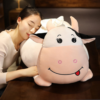 Nice Giant Lovely Animal Cartoon Cows Stuffed Plush Toy Super Comfortable Soft Cattle Children Birthday Present Christmas Gift fancytrader new giant plush soft simulated animal zebra toy photography props nice baby gift 4 sizes