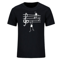 Music Notes Funny Print T-shirt Men Summer Style Cotton Short Sleeve O-Neck T Shirt Funny  Tee Mans Top Clothing music notes skew neck sweatshirt