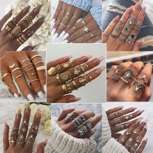 Europe and United States hot sale Zinc Alloy water drop natural stone set  with bird eye Semi-precious Stone rings for female hot 10pcs zinc alloy plating silver bird squid