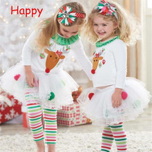 Get more info on the 2019 Fashion Christmas Infant Toddler Baby Girls Cute Santa Elk Cake Dress Top + Skirts Pants Outfits Set