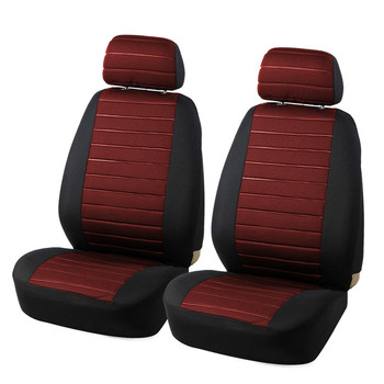 Brand 2PCS Car Seat Covers 5MM Foam Airbag Compatible Universal Fit Most Vans Minibus Separated Car Seat for fj cruiser nissan image