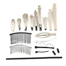 Grzebień do włosów Twist zaciski sprężynowe klamra do włosów spinki do włosów puste ustawienie bazy dla DIY tworzenia biżuterii ozdoby do włosów ręcznie wykonane akcesoria