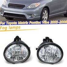 COOYIDOM Fog light For Toyota Matrix Pontiac Vibe 2003 2004 2005 2006 2008  Fog lamps Clear Lens Bumper Driving Lamps