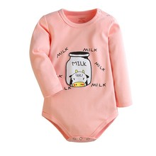 Baby Bodysuits 2 Pieces Girls Boys Cotton Clothes Autumn/Winter Long Sleeve Warm New born baby Ropa Jumpsuits