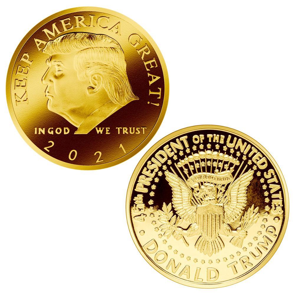 Дональд J Трамп 2021 сохраняет большой командир Америки главной Золотой Вызов Монета
